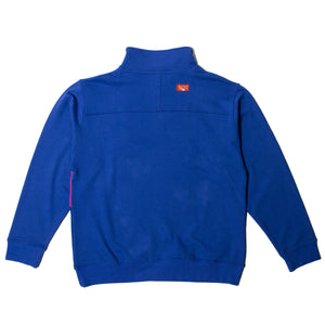 BLOOD SUCKING SWEAT HALF ZIP - BLUE