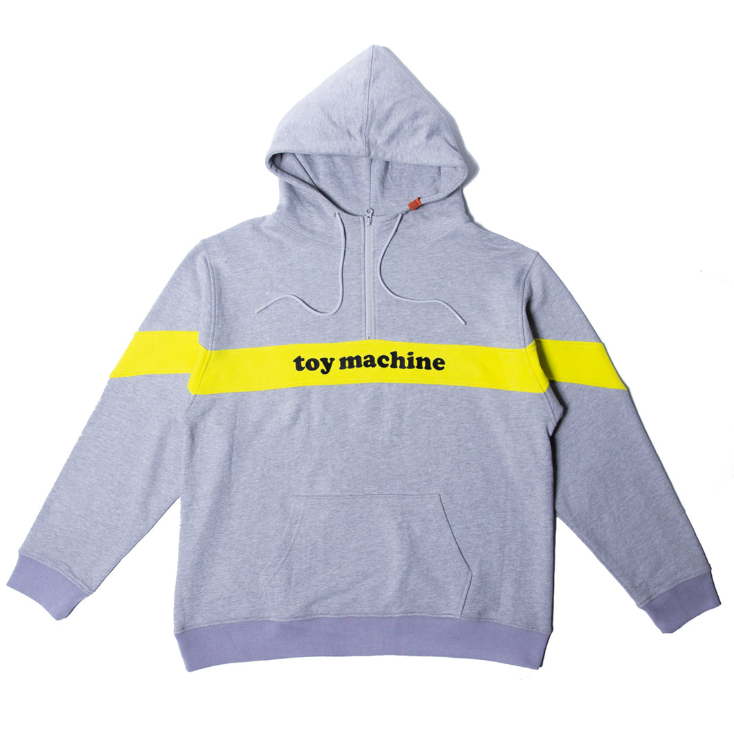 TOYMACHINE LOGO SWEAT HALF ZIP PARKA - GRAY