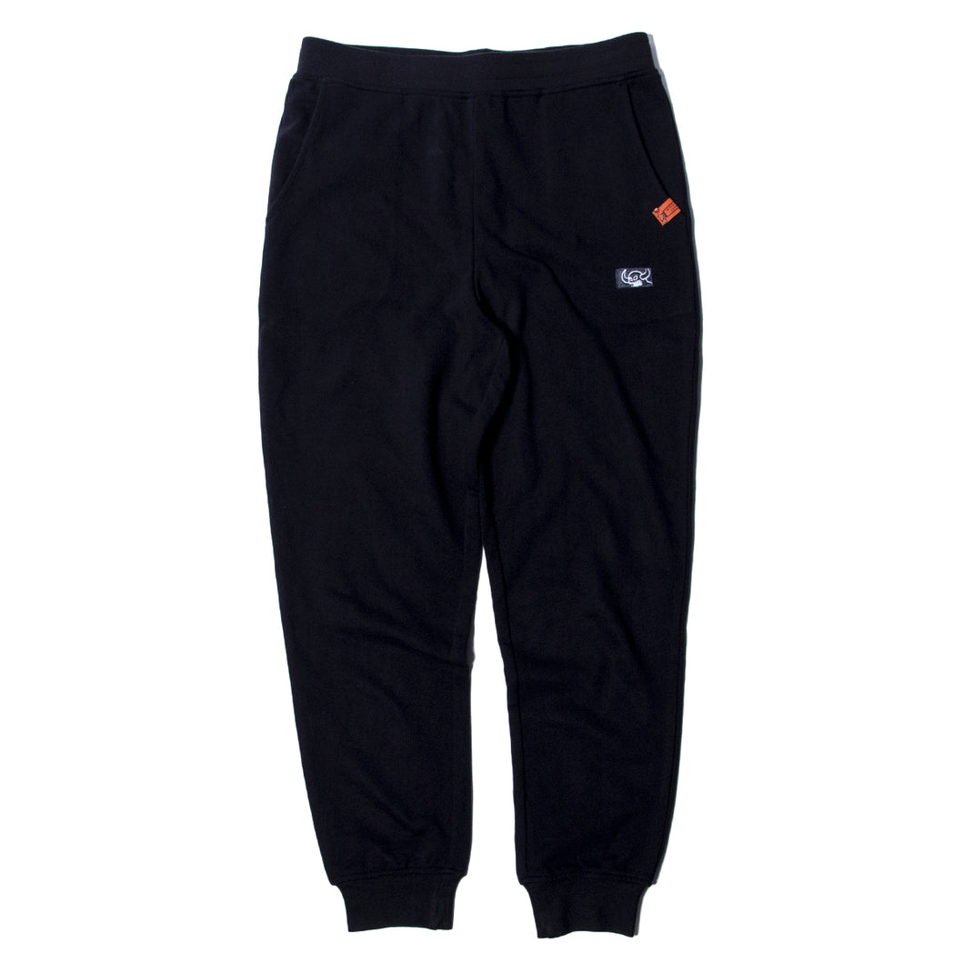 SQUARE MONSTER SWEAT PANTS - BLACK