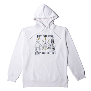 BURY THE HATCHET SWEAT PARKA - WHITE