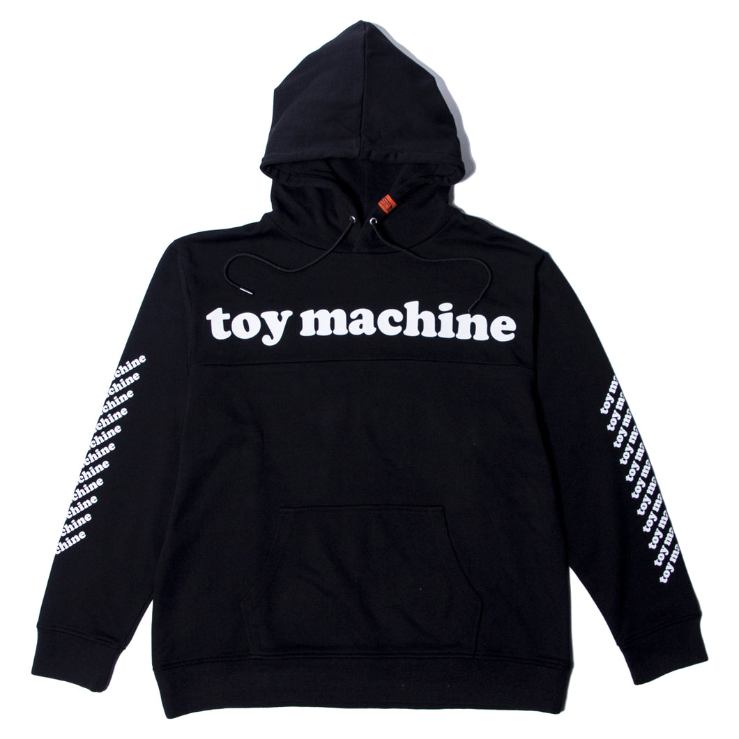 TOYMACHINE LOGO SWEAT PARKA - BLACK