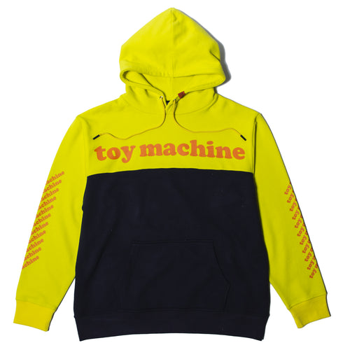TOYMACHINE LOGO SWEAT PARKA - YELLOW
