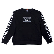 SQUARE MONSTER EMBRO SWEAT CREW - BLACK