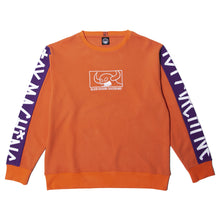 SQUARE MONSTER EMBRO SWEAT CREW - ORANGE