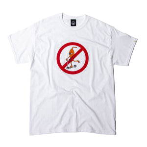 NO SCOOTER SS TEE - WHITE