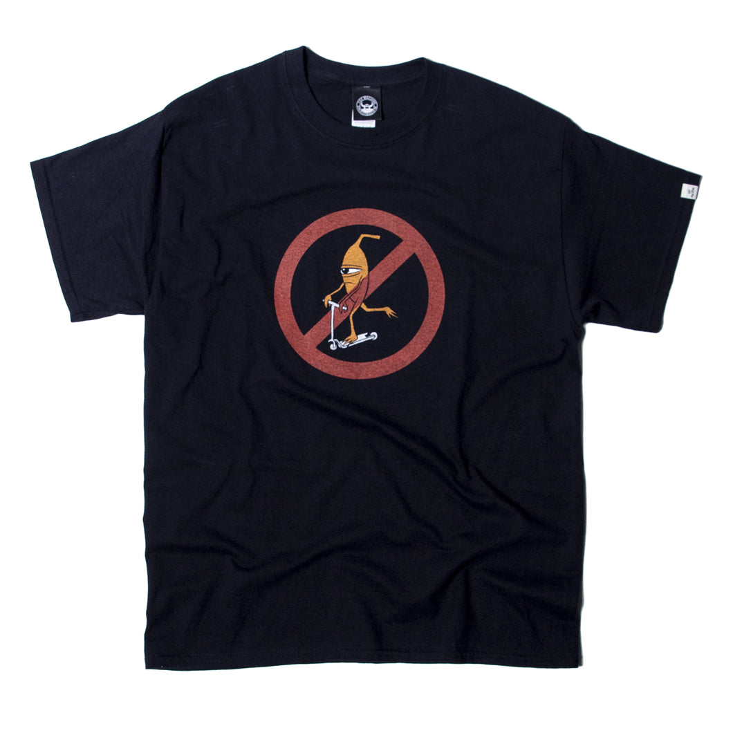 NO SCOOTER SS TEE - BLACK