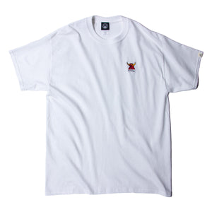 MONSTER MARKED EMBROIDERY SS TEE - WHITE