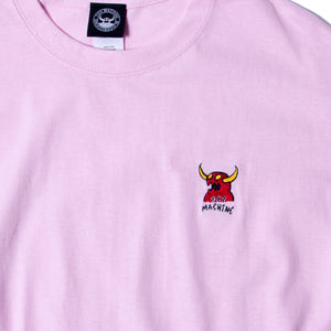 MONSTER MARKED EMBROIDERY SS TEE - PINK