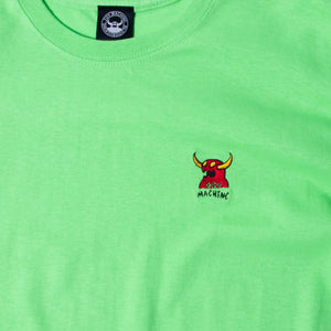 MONSTER MARKED EMBROIDERY SS TEE - LIME