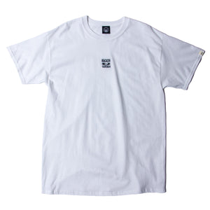 BRAIN WASH EMBROIDERY SS TEE - WHITE