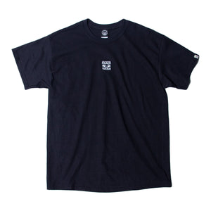 BRAIN WASH EMBROIDERY SS TEE - BLACK