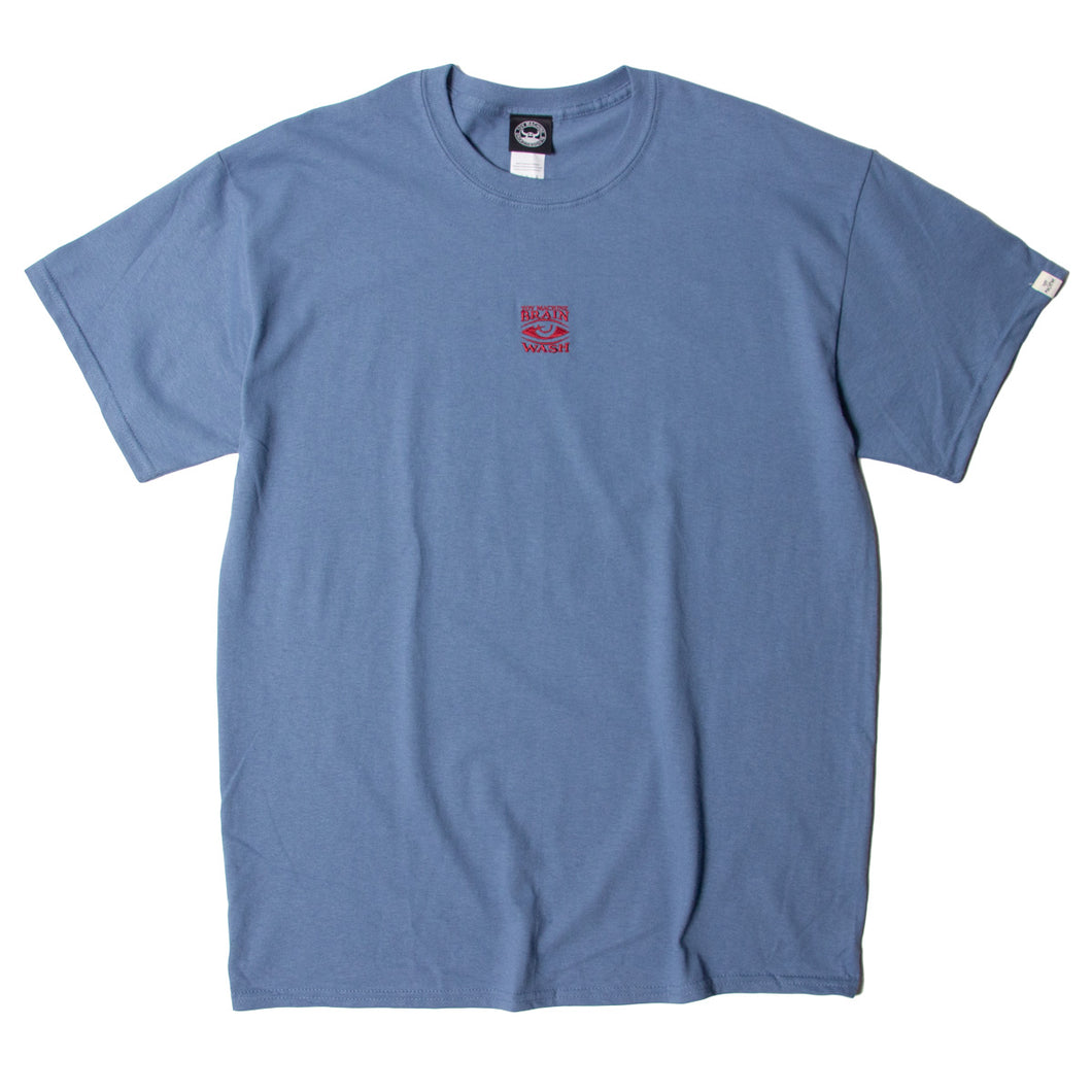 BRAIN WASH EMBROIDERY SS TEE - DK. BLUE