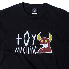 SKETCHY MONSTER LOGO PRINT SS TEE - BLACK