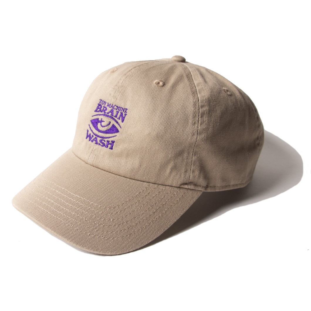 BRAIN WASH EMBROIDERY CAP - LT. BROWN