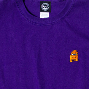 SECT WAX EMBROIDERY SS TEE - PURPLE