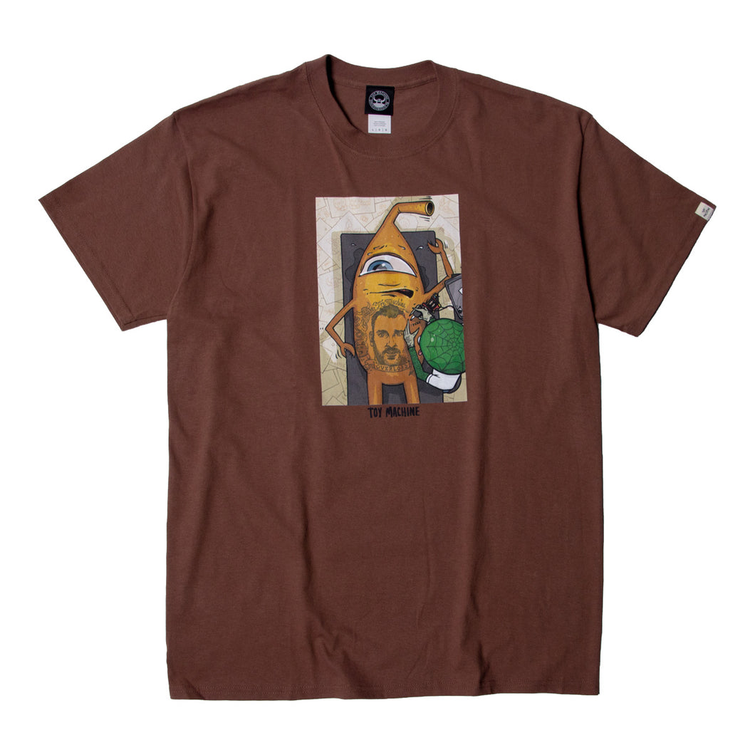 ED TEMPLETON OVERLOAD PRINT SS TEE - BROWN