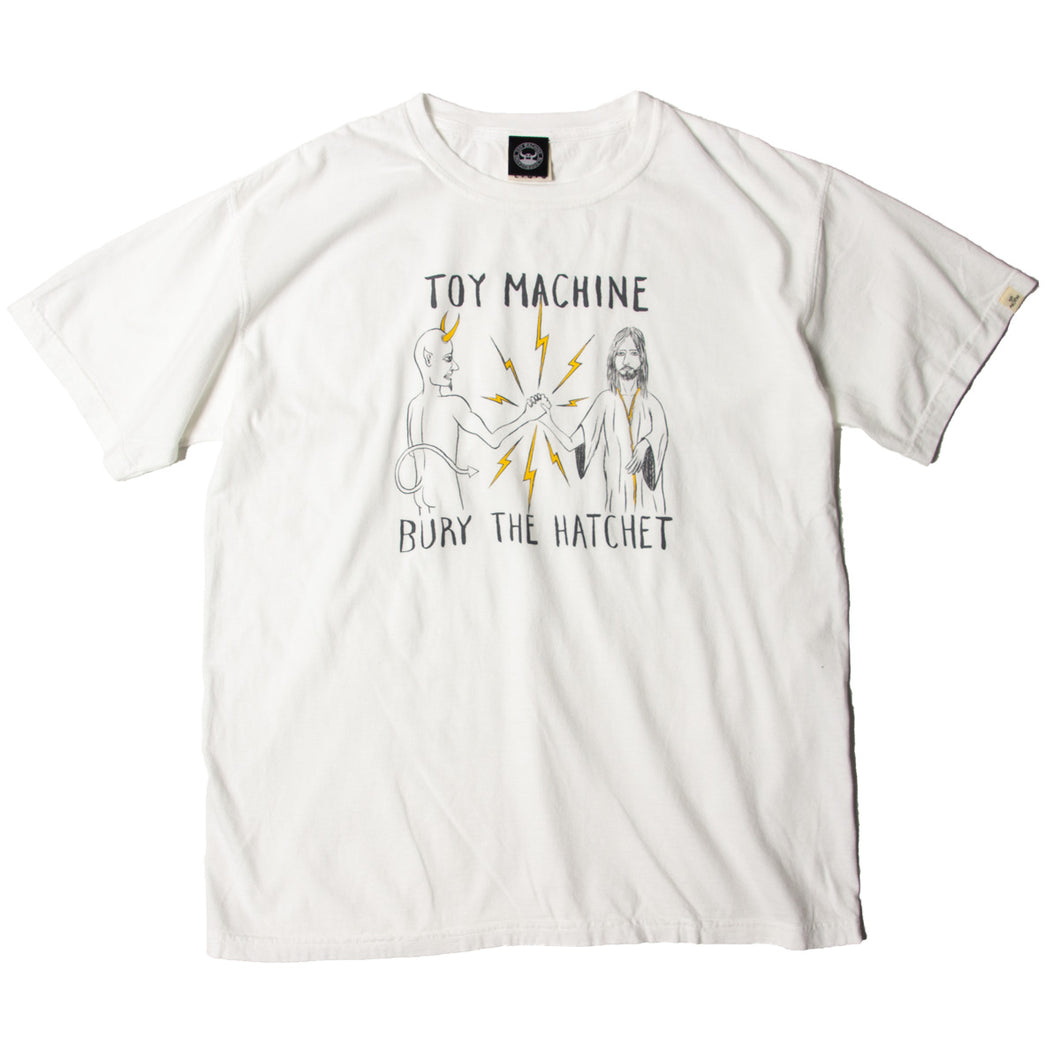 BURY THE HACHET PRINT PIGMENT SS TEE - WHITE