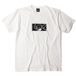 SQUARE MONSTER PRINT SS TEE - WHITE