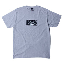 SQUARE MONSTER PRINT SS TEE - M. GRAY