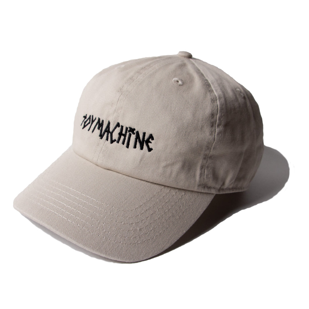 TAPE LOGO EMBROIDERY CAP - BEIGE