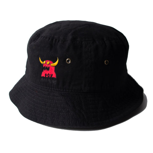 MONSTER MARKED  EMBROIDERY HAT - BLACK