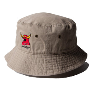 MONSTER MARKED  EMBROIDERY HAT - BEIGE
