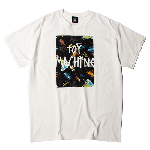 SECT EYE  BOX PRINT SS TEE - WHITE