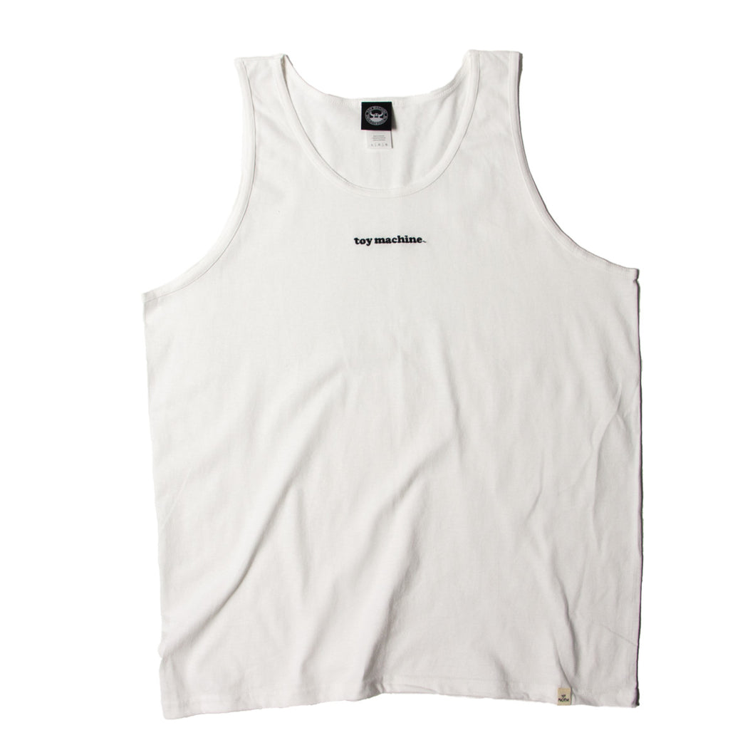 TOYMACHINE LOGO EMBROIDERY TANK TOP - WHITE