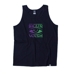 BRAINWASH GRADATION PRINT TANK TOP - BLACK