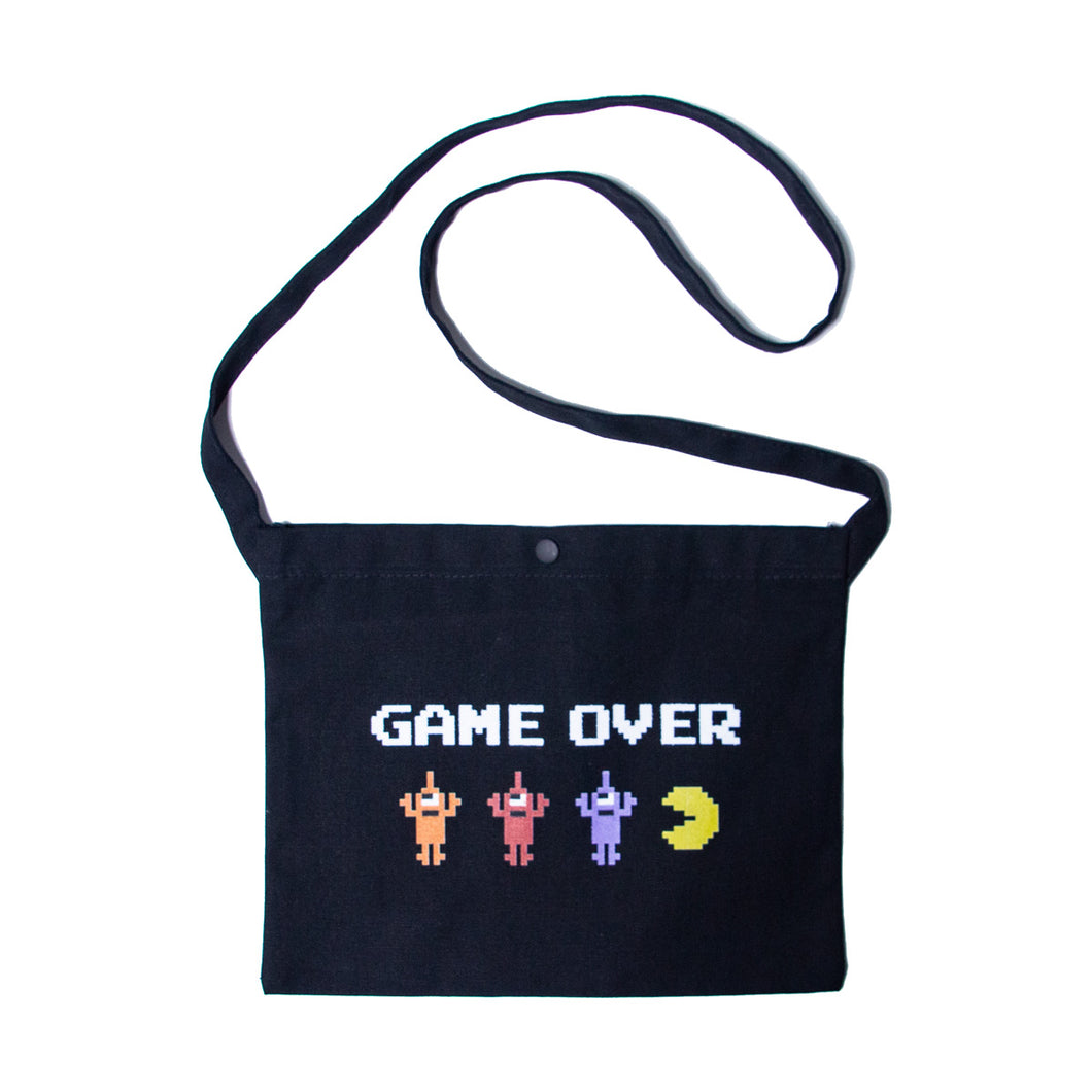 PAC-MAN GAMEOVER SECT BAG - BLACK