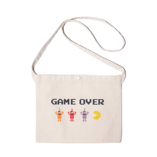 PACMAN GAMEOVER SECT BAG - NATURAL WHITE