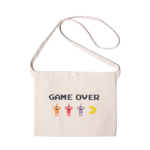 PAC-MAN GAMEOVER SECT BAG - NATURAL WHITE