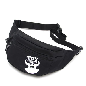 DISTRESSED TOY WAIST BAG - BLACK