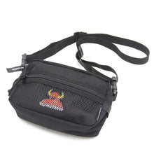 MESH POCKET TOYMONSTER SMALL SHOULDER BAG - BLACK