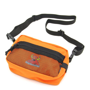 MESH POCKET TOYMONSTER SMALL SHOULDER BAG - ORANGE