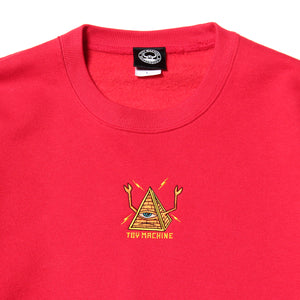 PYLAMID SECT EMBRO SWEAT CREW - RED