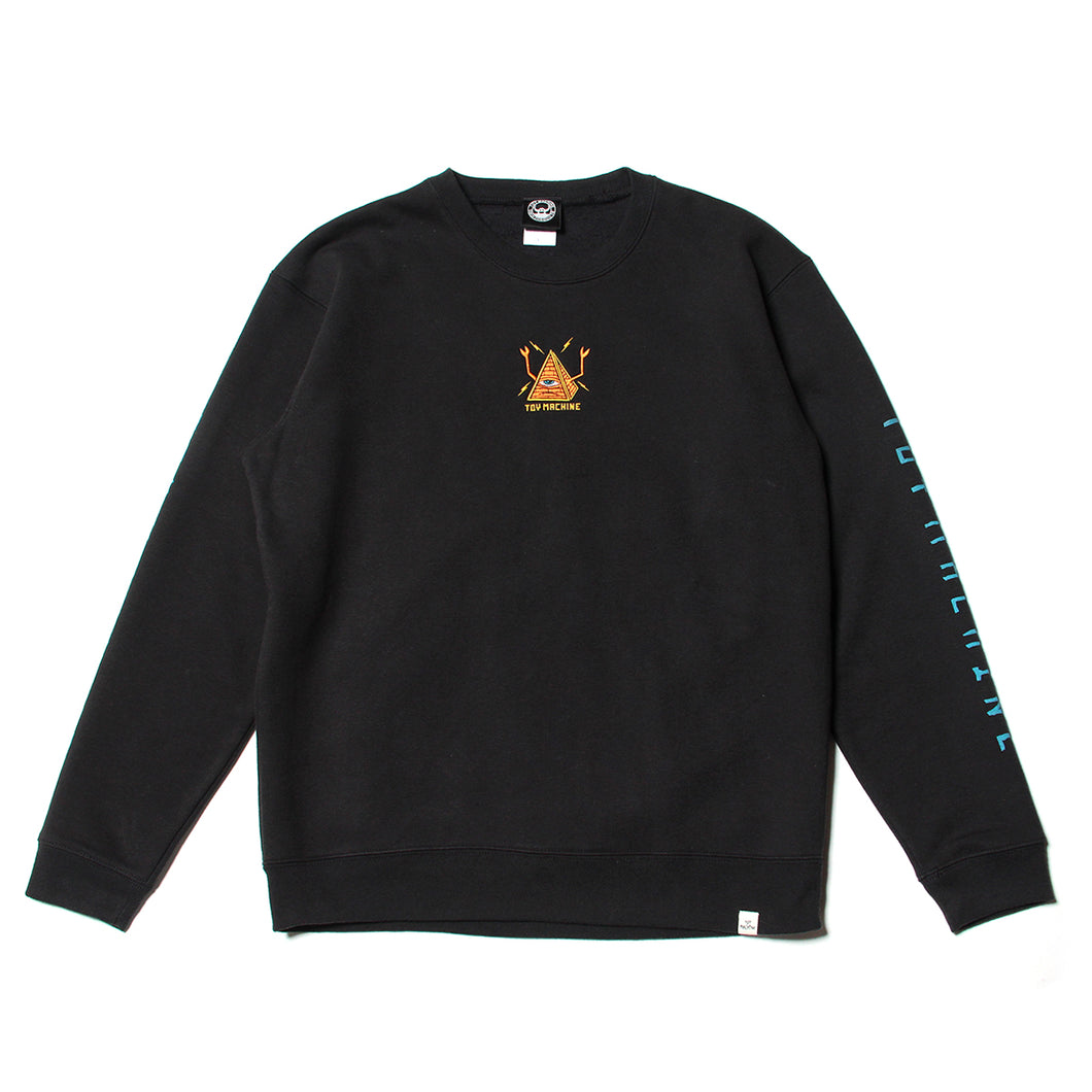PYLAMID SECT EMBRO SWEAT CREW - BLACK