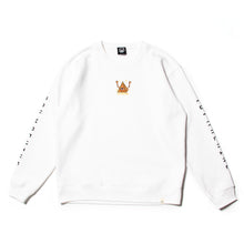 PYLAMID SECT EMBRO SWEAT CREW - WHITE