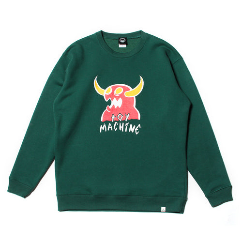 MONSTER MARKED PT SWEAT CREW - GREEN