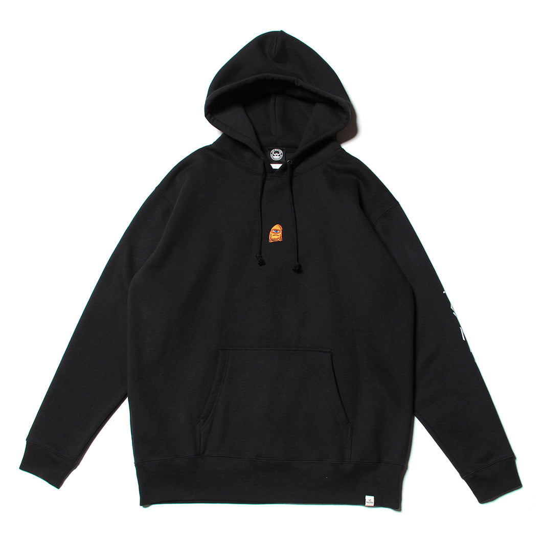 SECT WAX EMBRO SWEAT PARKA - BLACK