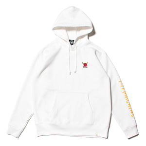 MONSTER MARKED EMBRO SWEAT PARKA - WHITE