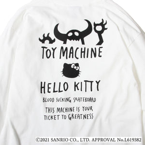 TOYMONSTER HELLO KITTY EMBROIDERY LONG TEE - WHITE