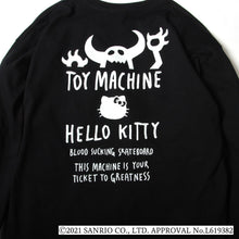 TOYMONSTER HELLO KITTY EMBROIDERY LONG TEE - BLACK