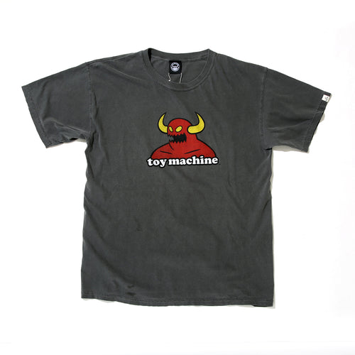 TOY MONSTER WASHED SHORT SLEEVE TEE -BLACK-