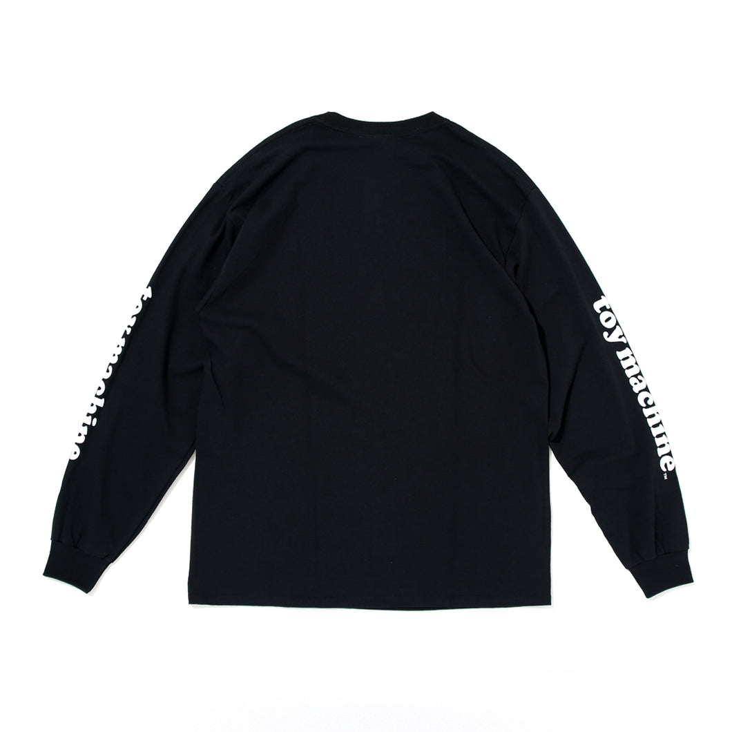 RIP TORN MONSTER LONG SLEEVE TEE -BLACK-