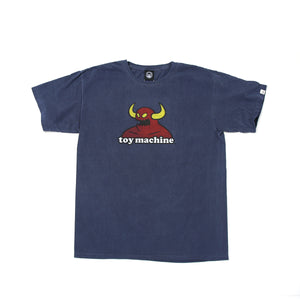 TOY MONSTER WASHED SHORT SLEEVE TEE -NAVY-