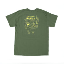 AXEL BOARD SLIDE SHORT SLEEVE TEE -M.GREEN-