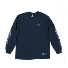 AXEL BOARD SLIDE LONG SLEEVE TEE -NAVY-