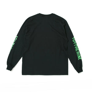 TURTLE BOY EMBRO. LONG SLEEVE TEE - BLACK -