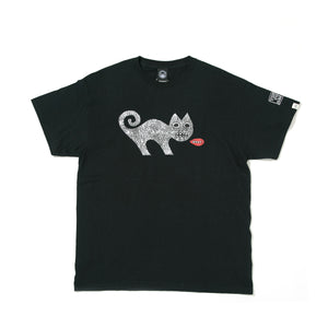 ED TEMPLETON CAT SHORT SLEEVE TEE -BLACK-